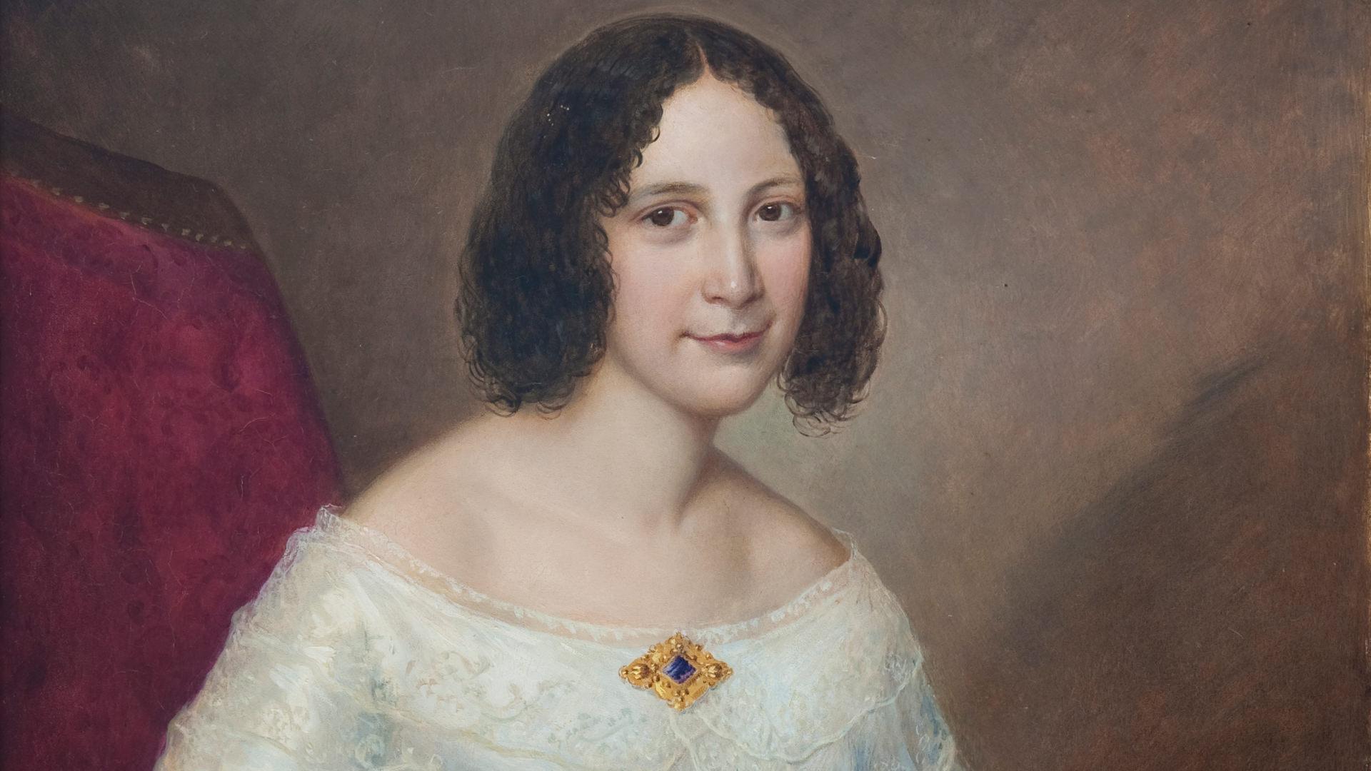 Gemaltes Porträt von Luise Escher, der Gründerin der Martin Stiftung.