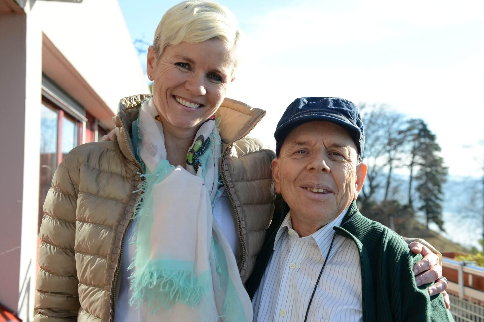 Karin Sutter ist Freiwillige bei der Martin Stiftung und trifft seit vielen Jahren Alberto.