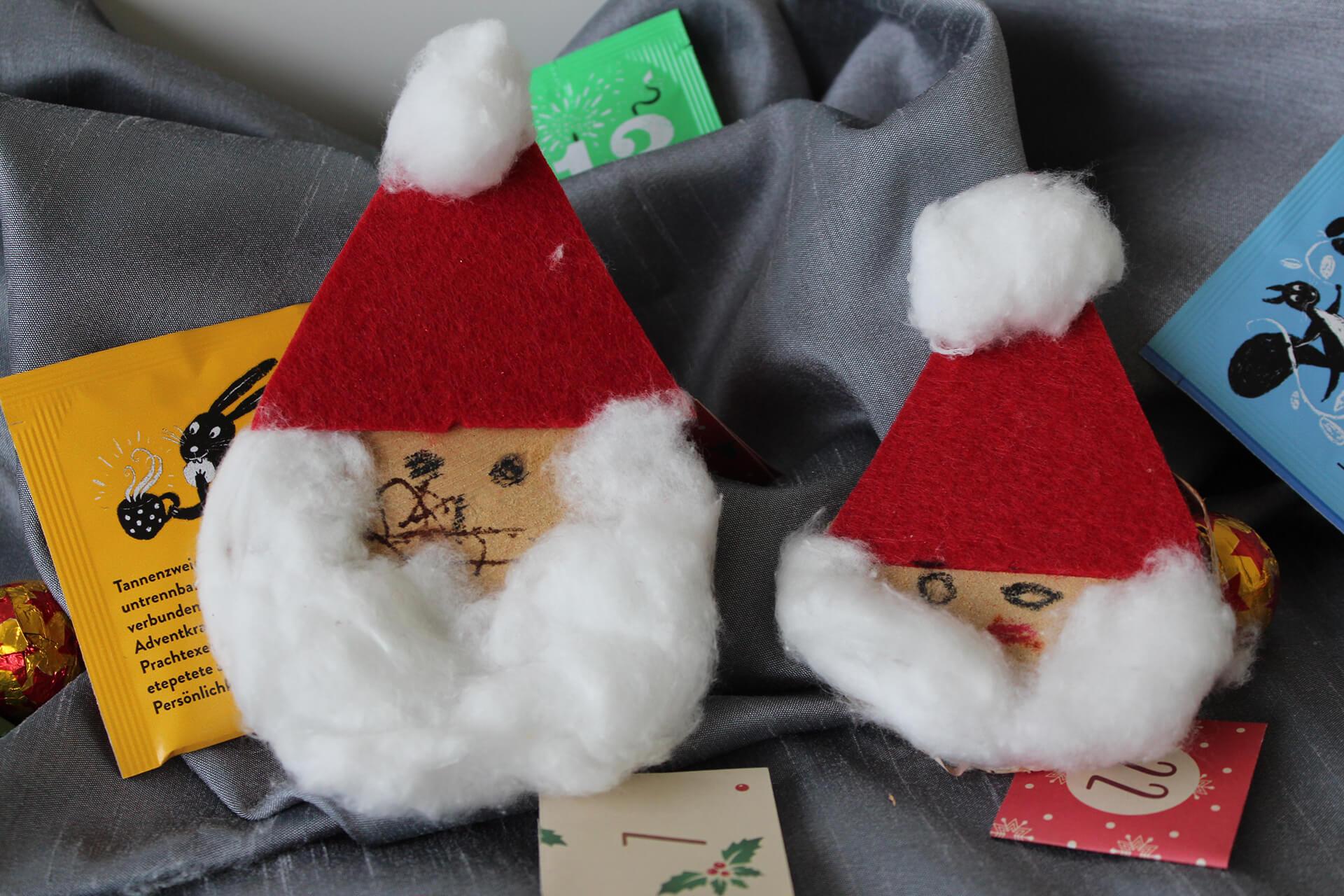 Selbst gebastelte Samichlaus-Köpfe haben Kinder der italienischen Kirchengemeinde Stäfa der Martin Stiftung geschenkt.