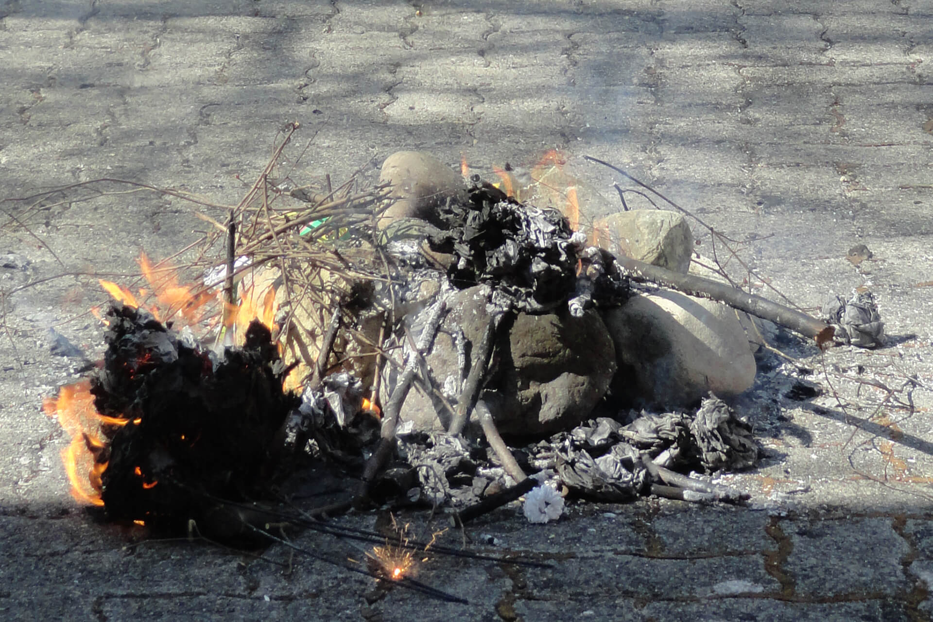 Abgebrannt: Der Böögg 2021 ist in nur 8 Minuten abgebrannt.
