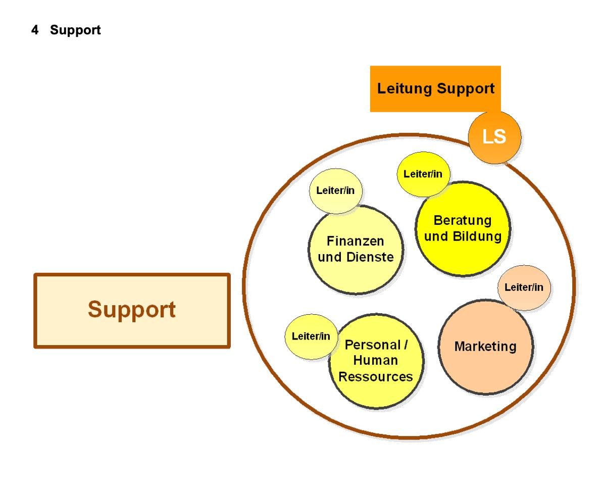 Organisationsmodell für den Support